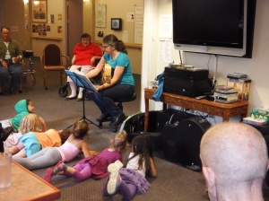 Intergenerational Music session.
